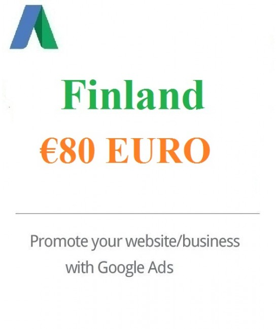 80 Euro Google Ads Coupon Finland