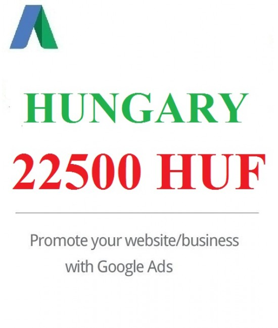 22500 HUF Google Ads coupon for Hungary