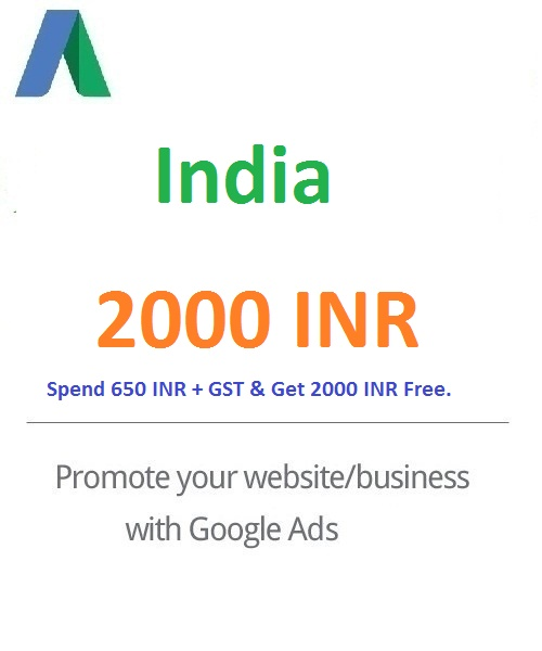 2000 INR Google Ads Coupon India