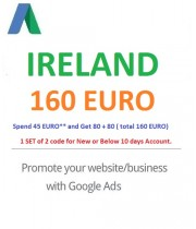 €160 Euro Google Ads coupon Ireland for 2021
