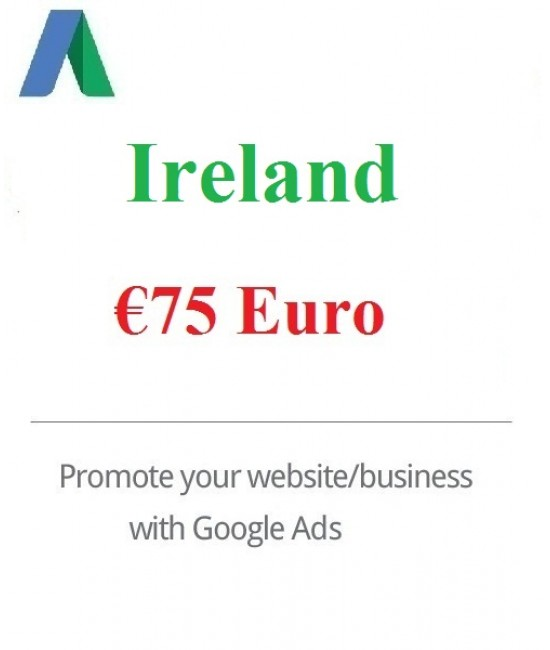 € 75 Euro Google Ads coupon Ireland for 2020