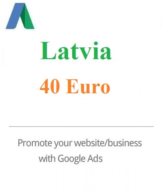 40 Euro Google Adwords coupon Latvia