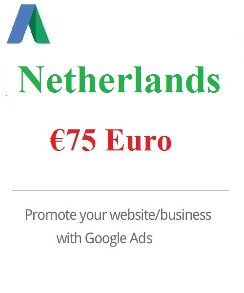 75 Euro Google Ads coupon for Netherlands 2020