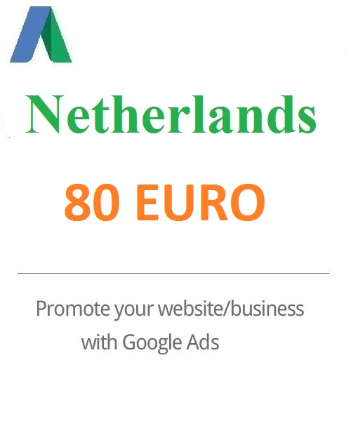 80 Euro Google Ads coupon for Netherlands 2021