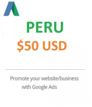 $50 USD Google Ads Coupon Peru