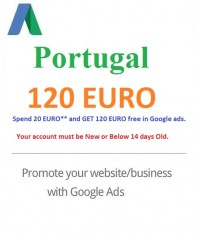 120 Euro Google Ads coupon Portugal