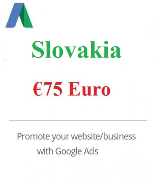 €75 Euro Google Ads coupon Slovakia for 2020