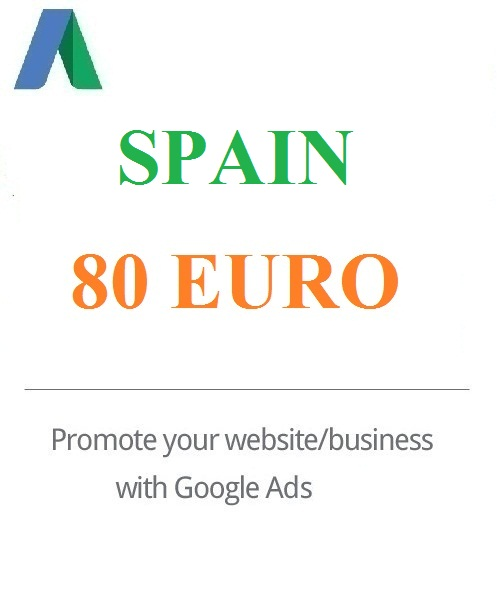 €‎80 Euro Google Ads coupon Spain for 2020