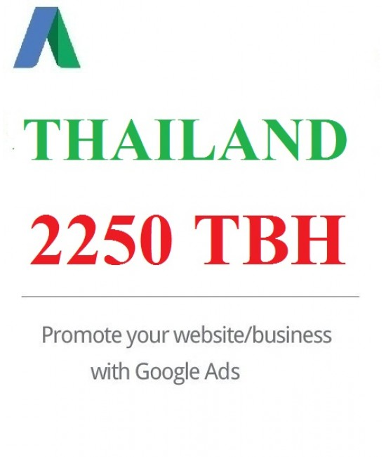 2250 THB Google Ads coupon Thailand