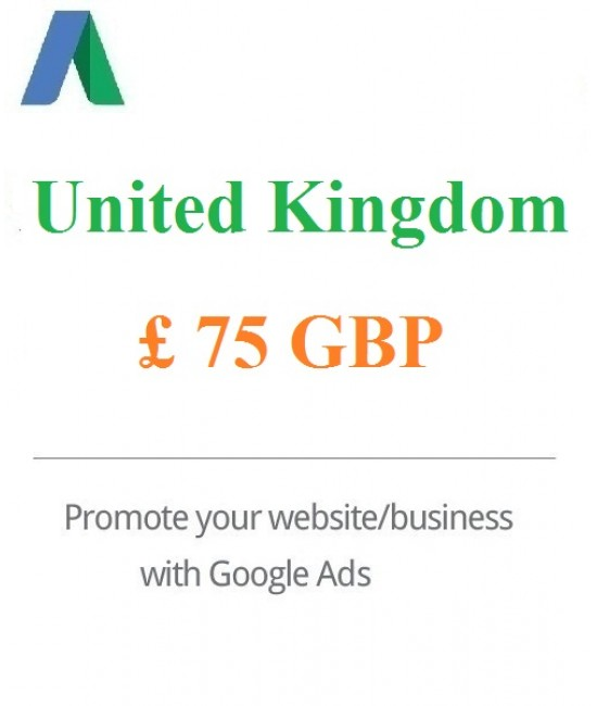 £75 GBP Google Ads Coupon For UK - For New Accounts