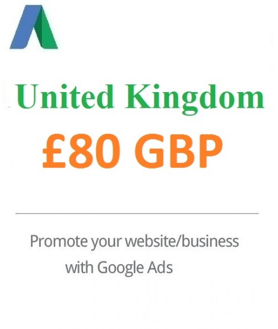 £80 GBP Google Ads Coupon For UK - For New Accounts