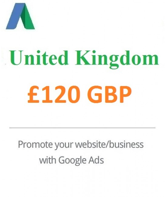 £120 GBP Google Ads Coupon for UK