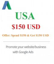 $150 USD Google Ads Coupon USA