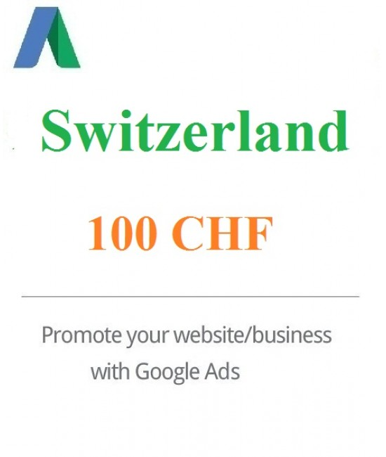 100 Swiss Franc Google Ads coupon Switzerland