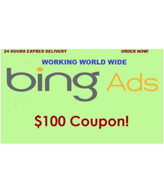 50 x $100 USD Bing Ads Coupon (Need 25 USD Spending)