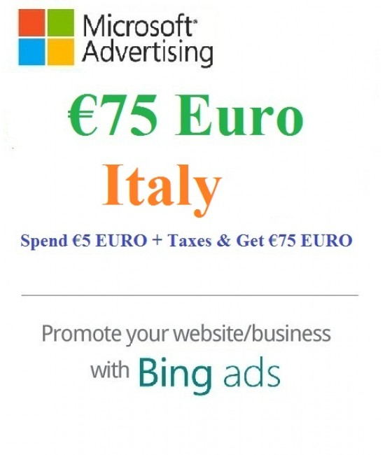 €75 Euro Microsoft Ads Coupon Italy