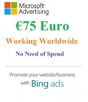 €75 Euro Microsoft Ads Voucher- Working Worldwide (NO Need Spending)