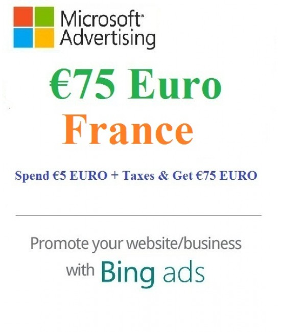 €75 Euro Microsoft Ads Voucher France