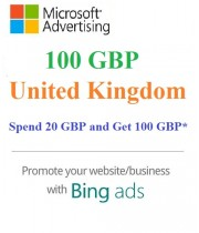 £100 GBP ($138 USD) Microsoft Ads Coupon (Need £20 GBP ($28 USD) Spending) for Main and SUB Accounts