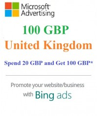 £100 GBP Bing Ads Coupon ( Need £20 GBP Spending)