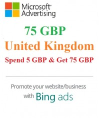 £75 GBP Bing Ads Coupon ( Need £5 GBP Spending)
