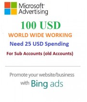 20 x $100 USD Microsoft Ads Coupon (Need 25 USD Spending) for Sub accounts