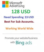 $128 USD Bing Ads Coupon (Need 33 USD Spending) For Main and SUB Accounts