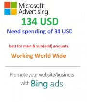 $134 USD Bing Ads Coupon (Need 34 USD Spending) For Main and SUB Accounts