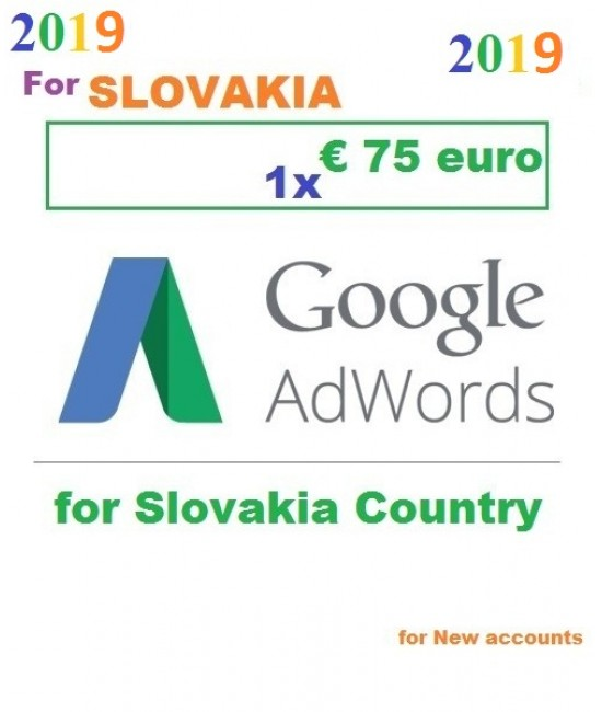 €75 Euro Google Adwords coupon Slovakia for 2019