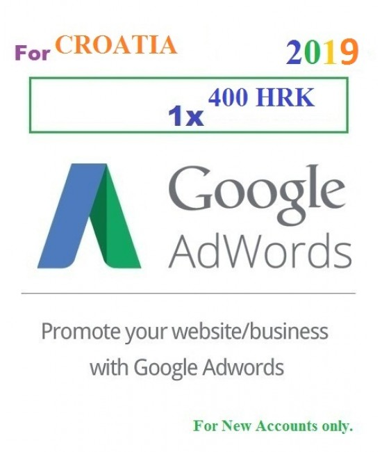 400 HRK Google Adwords Coupon Croatia for 2019