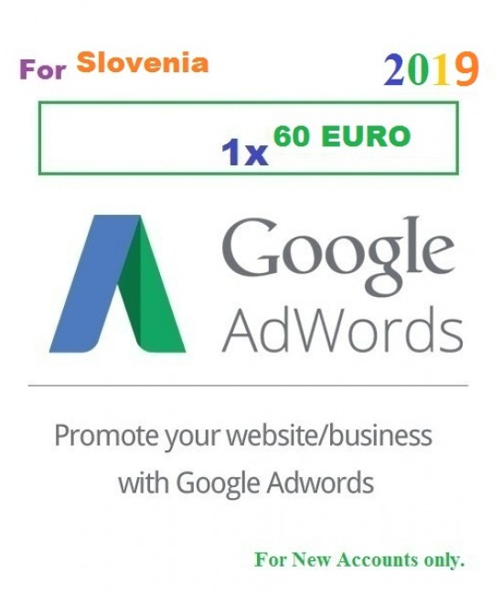 60 Euro Google Adwords coupon for Slovenia 2019