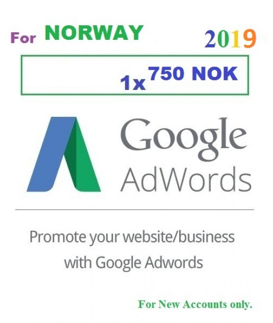 750 NOK Google Adwords Coupon Norway for 2019