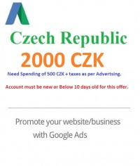 2000 CZK Google Ads coupon Czech Republic