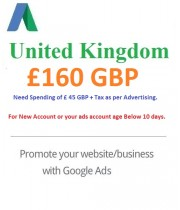 £160 GBP Google Ads coupon United Kingdom