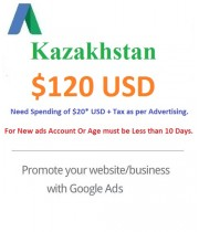 $120 USD Google Ads coupon Kazakhstan
