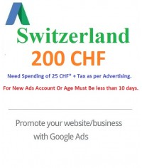 200 CHF Google Ads coupon Switzerland