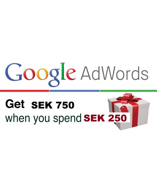 750 SEK Google Ads coupon Sweden