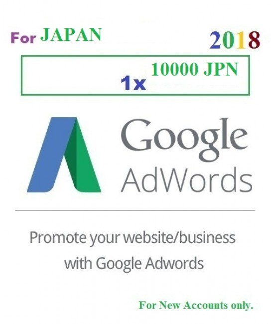 10000 JPN Google Adwords coupon for JAPAN