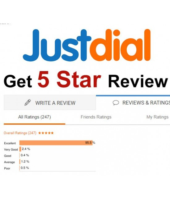buy 5 Indian Just Dial Reviews for your Business