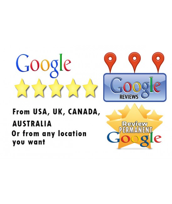 Buy 5 permanent GOOGLE Local Business review